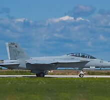 F/A-18F Super Hornet taxiing by Henry Plumley