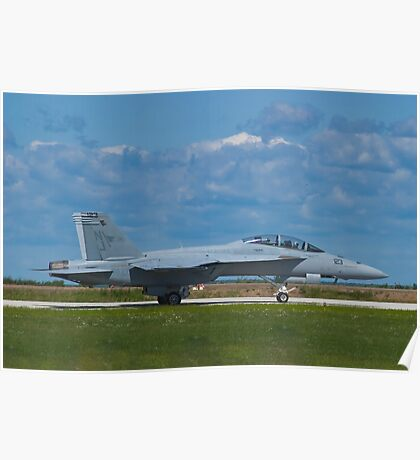 F/A-18F Super Hornet taxiing Poster
