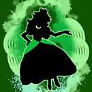 Super Smash Bros. Green Peach Silhouette by jewlecho