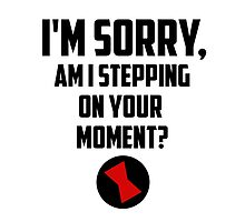 I'm Sorry, Am I Stepping On Your Moment, Sarcastic Humor, Black Widow by NerdGirlTees