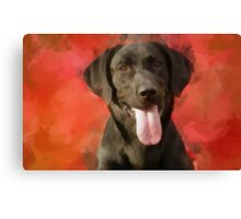 Panting and waiting Canvas Print