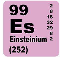 Einsteinium Periodic Table of Elements by walterericsy