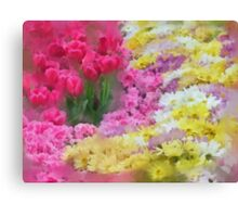 Pastel of Flowers Canvas Print