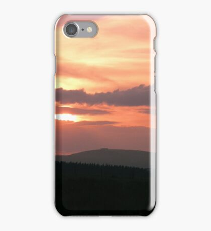 Strong red sunset - Donegal Ireland iPhone Case/Skin