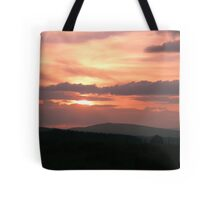 Strong red sunset - Donegal Ireland Tote Bag