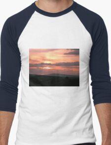 Strong red sunset - Donegal Ireland Men's Baseball ¾ T-Shirt