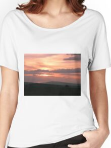 Strong red sunset - Donegal Ireland Women's Relaxed Fit T-Shirt