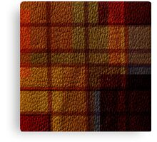 Multi Colored Leather Patchwork Canvas Print