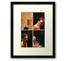 benedict doing the ALS challange Framed Print