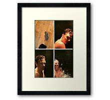 benedict doing the ALS challange Framed Print