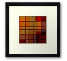 Multi Colored Leather Patchwork 2 Framed Print