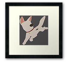 Bolt the super dog Framed Print
