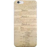 Original Signature Page of the United States Constitution Page 4 of 4 iPhone Case/Skin