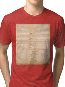 Original Signature Page of the United States Constitution Page 4 of 4 Tri-blend T-Shirt