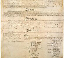 Original Signature Page of the United States Constitution Page 4 of 4 by allhistory