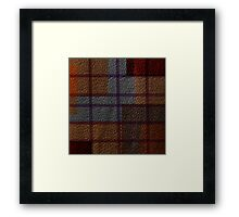 Multi Colored Leather Patchwork 3 Framed Print