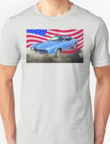 1967 Buick Riviera With United States Flag T-Shirt
