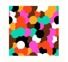 Big overlapping circles Art Print