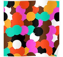 Big overlapping circles Poster