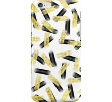Elegant Black and Gold Brushstroke Pattern iPhone Case/Skin