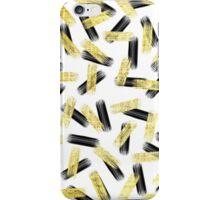 Elegant Black and Gold Brushstroke Pattern iPhone Case/Skin