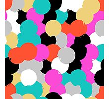 Big overlapping circles in pink grey colors Photographic Print