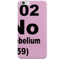 Nobelium Periodic Table of Elements iPhone Case/Skin