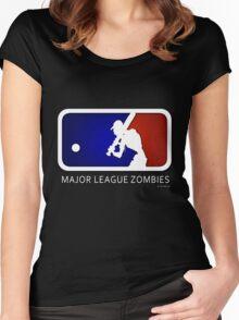 Major League Zombie (MLZ) Logo Women's Fitted Scoop T-Shirt