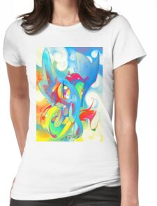 AWESOME by Io Zarate,  Womens Fitted T-Shirt