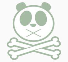 Panda Cross Bone - Green 2 One Piece - Long Sleeve