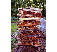Stacked Wood Photographic Print