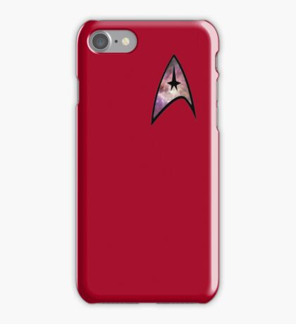 Cosmic Star Trek Insignia in Red iPhone Case/Skin
