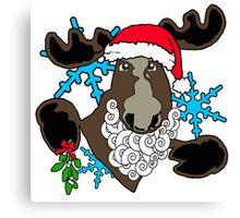 Mistletoe moose  Canvas Print