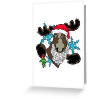 Mistletoe moose  Greeting Card