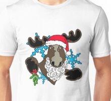 Mistletoe moose  Unisex T-Shirt