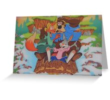 Disney Splash Mountain Bear Fox Rabbit Song of the South Greeting Card
