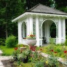 Gazebo in Rose Garden by Gerda Grice