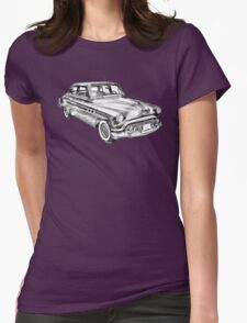 1951 Buick Eight Antique Car Illustration Womens Fitted T-Shirt