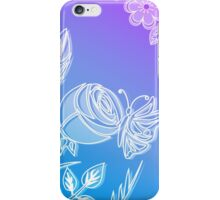 Blooming flower and butterfly. iPhone Case/Skin