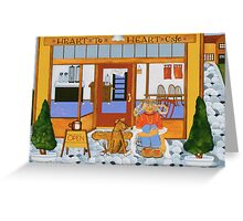 """""""Waiting at the Heart to Heart"""" greeting card Greeting Card"""