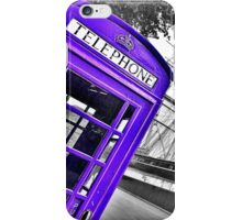 London Phonebox in Purple by Cutty Sark iPhone Case/Skin