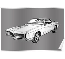 1967 Buick Riviera Illustration Poster