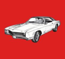 1967 Buick Riviera Illustration One Piece - Short Sleeve