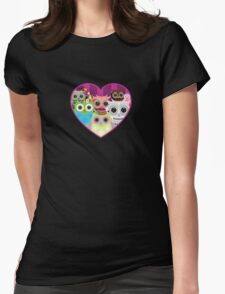 Love Owls 1 (black) Womens Fitted T-Shirt