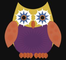 Star Owl - Yellow Orange Purple 2 Kids Clothes