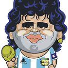 Diego Maradona by Chris Sommerville
