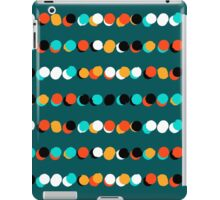 Lines of colorful dots on jade green iPad Case/Skin