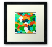 Big overlapping circles in green colors Framed Print