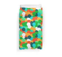 Big overlapping circles in green colors Duvet Cover