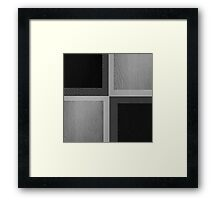 Black and White Leather Patchwork 2 Framed Print